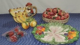 Italian Fruit Ceramic Serving Ware Lot