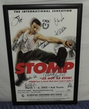 Stomp Poster Belk Theater 2005 Autographed