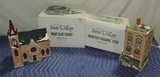 (2) Original Dept. 56 Snow Village Buildings In Boxes