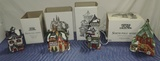 (4) Dept 56 North Pole Series Buildings In Boxes