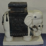 Plaster Elephant Plant Holder India Style