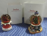 Nieman Marcus Dept 56 Christmas Water Globes 2002 & 2003 In Original Boxes