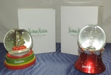 Nieman Marcus Dept 56 Christmas Water Globes 2008 & 2009 In Original Boxes