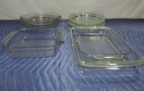 (11) Piece Pyrex Casserole And Pie Plate Tray Lot