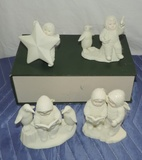 (4) Vintage Department 56 Snow Babies