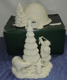 (2) Large Department 56 Snow Babies