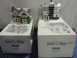 (2) Department 56 Snow Village Figures