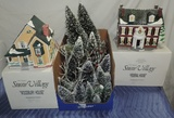 Lot Of Vintage Department 56 Villages And Trees