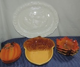 Lot Of Fall Themed China Plates