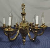 6 Arm Brass Ceiling Chandelier