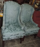 Pair Of Pearson High Back Wing Chairs