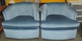 Pair Of Swivel Base Perfection 2000 Series Blue Chairs