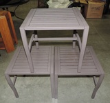 3 Metal Outdoor Side Tables