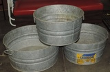 (3) Galvanized Tubs