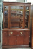 Mahogany 1950's Glass Front China Hutch