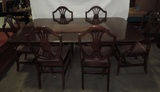 (7) Piece Mahogany Table And Shield Back Chairs