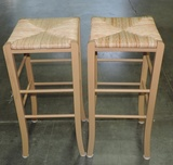 Pair Of Pine Bar Stools