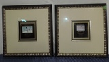 Pair Of Framed Clos Pegase Wine Labels