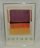 Rothko 1903-1970 Retrospective Poster For Art Show