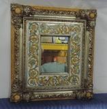 2005 Revello Italy ''pascal' Tile Designed Wall Mirror