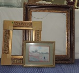 Lot Of 2 New Frames And Monet Print In Small Frame