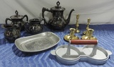 Brass Silver-plate And Kitchen Ware Lot