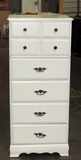 White 6 Drawer Chest