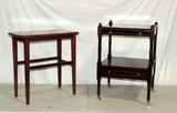 2 Mahogany Side Tables