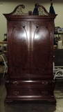 Mahogany Century Furniture Bombay-chippendale Style Dressing Cabinet