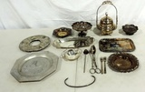 Tray Lot Silver-plate Serving Ware