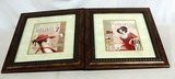 2 Thomas Wood Chocolat Prints In Frames