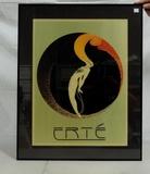 Deco Style Erte Print In Metal Frame