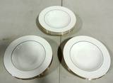 10 Lenox China Snowdrift Gold Soup Bowls