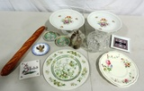 Large Tray Of China And Assorted Collectibles