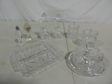Tray Lot Cut & Pressed Glass