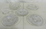 Fine Pressed Crystal Dish Lot
