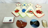 Hand Painted Saw Blades & Linens