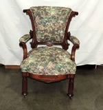 Victorian Walnut Parlor Armchair