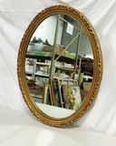 Oval Gold Acanthus Leaf Designed Mirror
