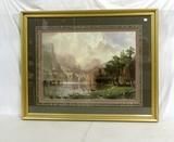 Large Moran Style Print In Frame