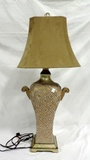Gold Tapestry Diamond Beaded Table Lamp With Shade