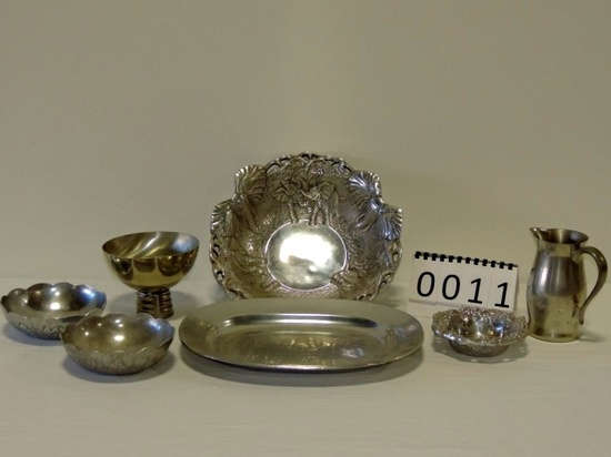 7 Piece Pewter Lot