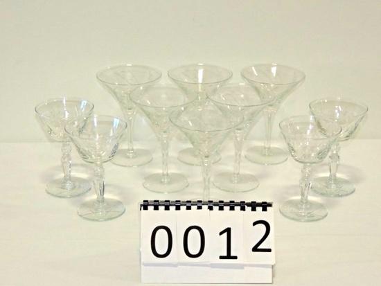 10 Piece Crystal Stemware Lot