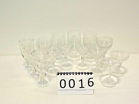 14 Piece Crystal Stemware Lot