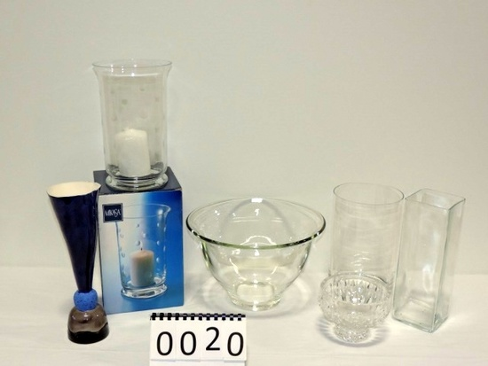 6 Piece Decorative Crystal Vases And Bowl Lot