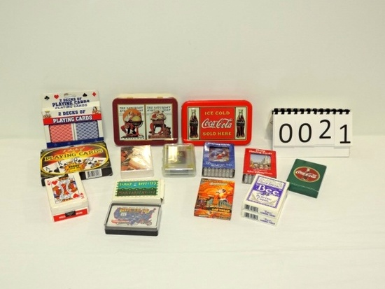 16 Piece Playing Card Collection