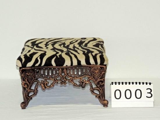 Ornate Iron Footstool