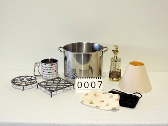 Stainless Steel Stock Pot & Miscellaneous Items
