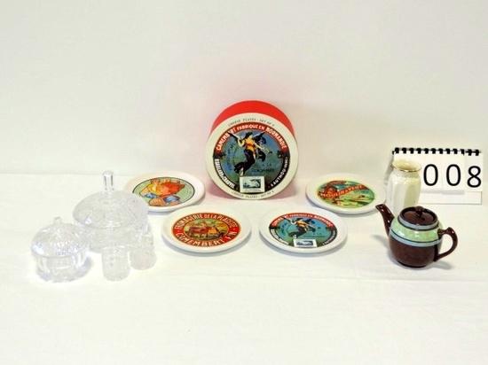 Decorative Glass, Lenox Vase, Teapot Lot