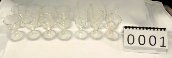 14 Pieces Crystal Stemware